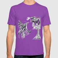 Love Birds  Mens Fitted Tee Ultraviolet SMALL
