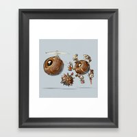 Creative Orb Robot Framed Art Print