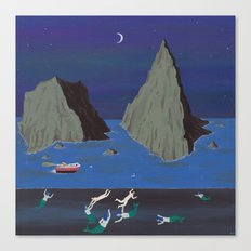 Evil Mermaids Canvas Print