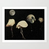 Swan Lake: The Halloween… Art Print