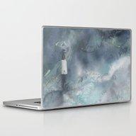 Night Storm At Tybee Lig… Laptop & iPad Skin
