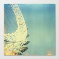 London Eye, Polaroid Canvas Print