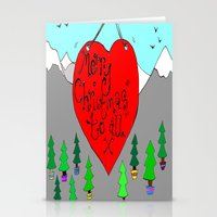 christmas love Stationery Cards