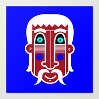Blue Indian Spiritual Man Canvas Print