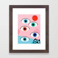 Noob - Eyes Memphis Retr… Framed Art Print