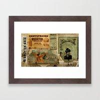 Moniteur De La Mode Framed Art Print