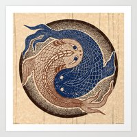 Shuiwudáo Yin Yang Mand… Art Print