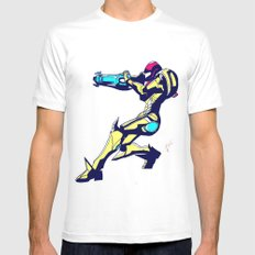 Samus Aran Color / Metroid Mens Fitted Tee White SMALL