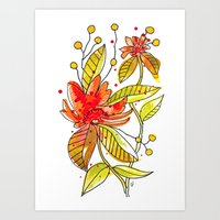 Lil' Orange Art Print
