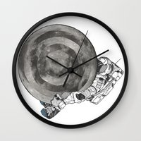 Troubled Moons And Space… Wall Clock