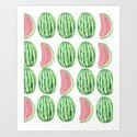 Watermelon Mania Art Print