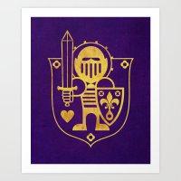 Castle Mama Crest Art Print