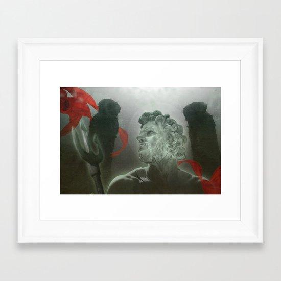 neptunes sphere Framed Art Print