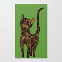 Giraffe Cat. Canvas Print