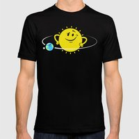 The Whole World Revolves Around Me Mens Fitted Tee Black SMALL