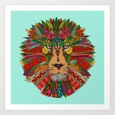 lion mint Art Print