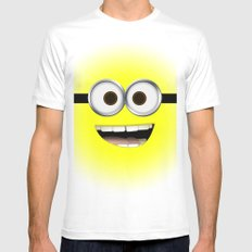 minion *new* Mens Fitted Tee White SMALL