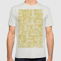 Golden Doodle Weave Mens Fitted Tee Silver SMALL