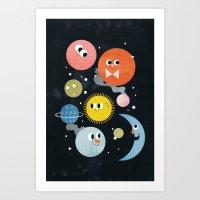 Happy Planets Art Print