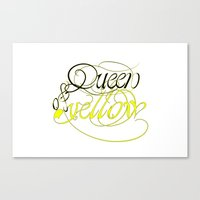Queen of yellow Canvas Print