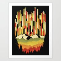 Sunset In Vertical Art Print