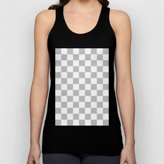 Checker (Silver/White) Unisex Tank Top