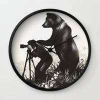 The Bear Encounter II Wall Clock