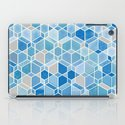 Cubes & Diamonds in Blue & Grey  iPad Case
