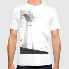 Bridge in Ludwigshafen, Germany. SMALL White Mens Fitted Tee