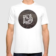 Fade Away White SMALL Mens Fitted Tee