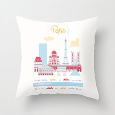 Paris Landscape Throw Pillow