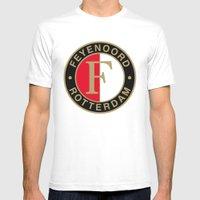 Feyenoord Rotterdam Mens Fitted Tee White SMALL