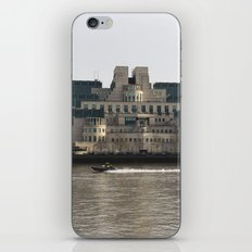 SIS Secret Service Building London And Rib Boat iPhone & iPod Skin