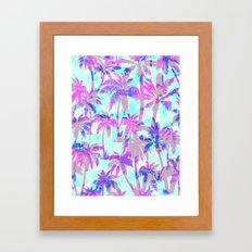 Maui Palm {Pink} Framed Art Print