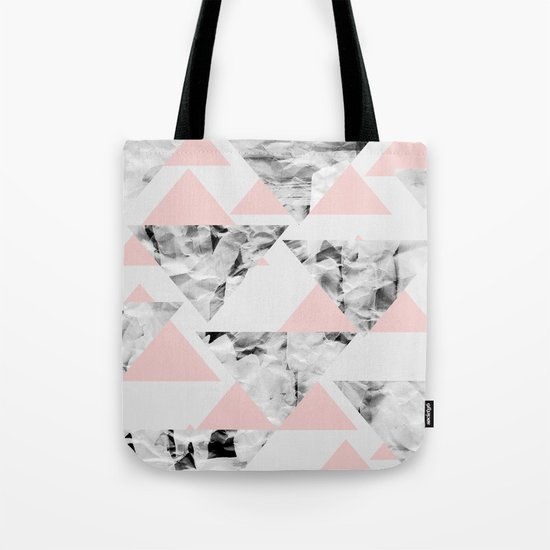 Pink Triangles Tote Bag