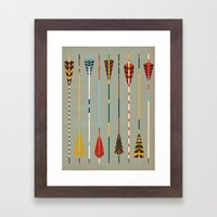 Vintage Arrows Framed Art Print