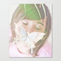 Canvas Print featuring Butterfly love by Jaime Lynn Photography