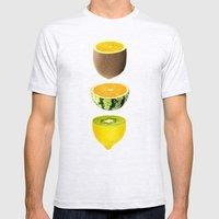 Mixed Fruits Mens Fitted Tee Ash Grey SMALL