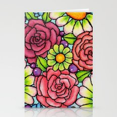 Rosie Ornament Cubist Style Stationery Cards