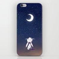 Moon Bunny iPhone & iPod Skin
