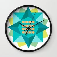 Abstract Lotus Flower - … Wall Clock