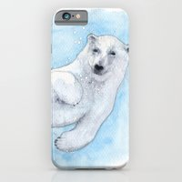 polar bear iPhone & iPod Cases featuring Polar bear underwater by Savousepate