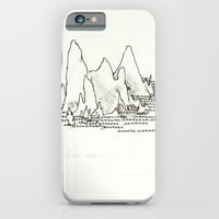 iPhone & iPod Case featuring Mountains by Cat Rocketship