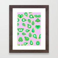 Avocado print Framed Art Print