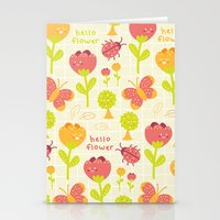Hello Flower Stationery Cards