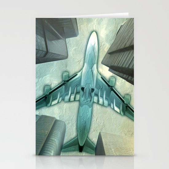 Flight path Stationery Card