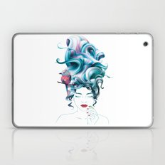 A girl with aqua hair Laptop & iPad Skin