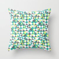 scribble triangles Throw Pillow