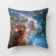 Monkey Head Nebula Throw Pillow