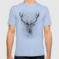 Red Deer Mens Fitted Tee Athletic Blue SMALL